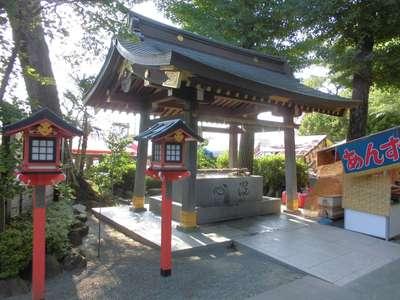 鈴鹿明神社の手水