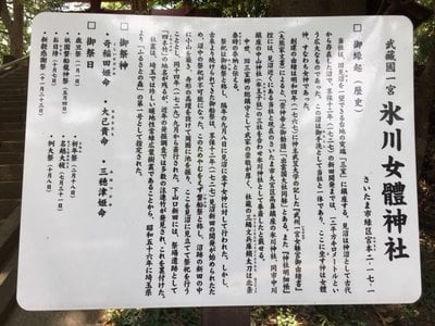 氷川女体神社の歴史