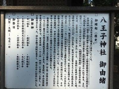 八王子神社の歴史