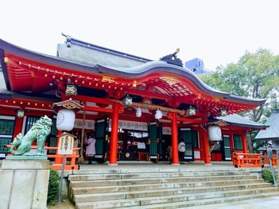 兵庫県生田神社の本殿