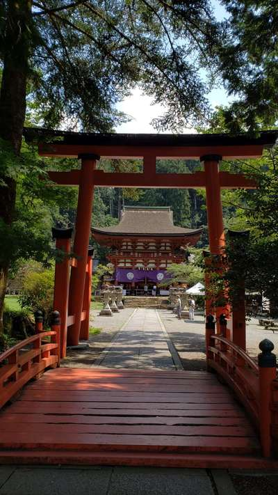 和歌山県丹生都比売神社の鳥居