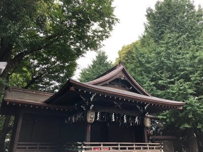 東京都金王八幡宮の本殿