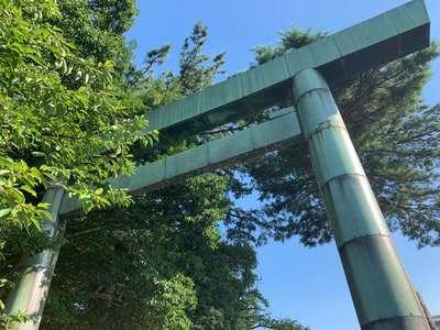 富山県富山縣護国神社の鳥居