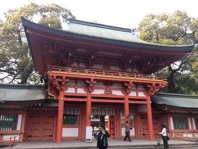 埼玉県武蔵一宮氷川神社の山門