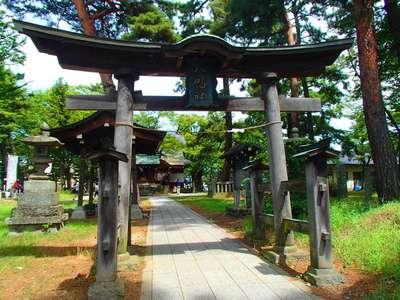 長野県川中島古戦場八幡社の鳥居