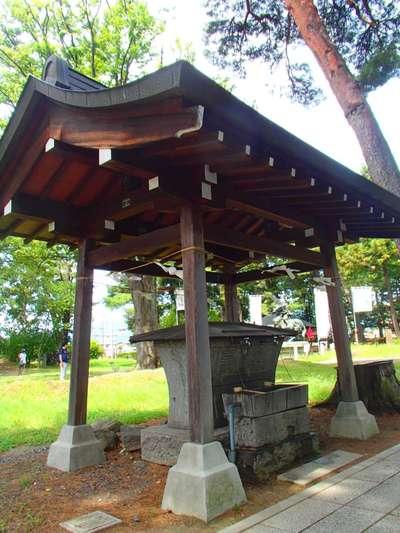 川中島古戦場八幡社の手水