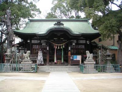 海老江八坂神社の本殿