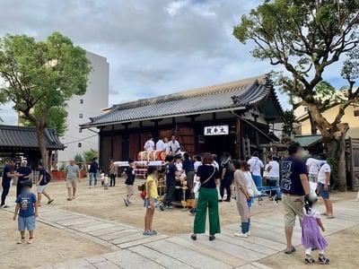 海老江八坂神社のお祭り