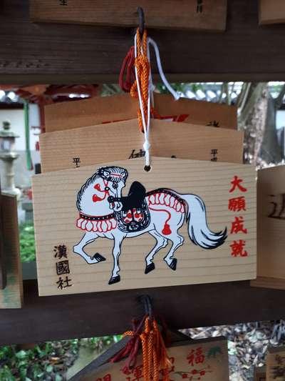 漢國神社の絵馬