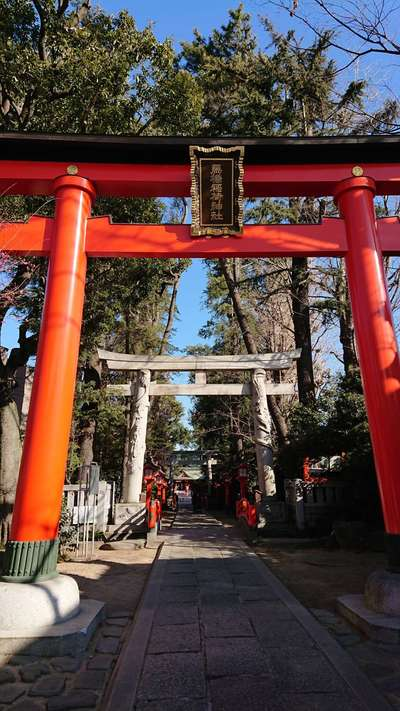 馬橋稲荷神社の鳥居