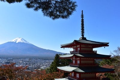 新倉富士浅間神社の景色