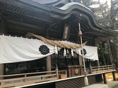 西寒多神社の本殿