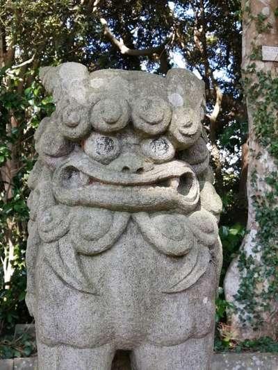 酒列磯前神社の狛犬