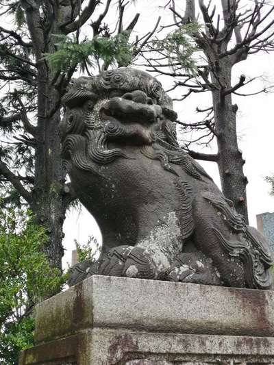 健田須賀神社の狛犬