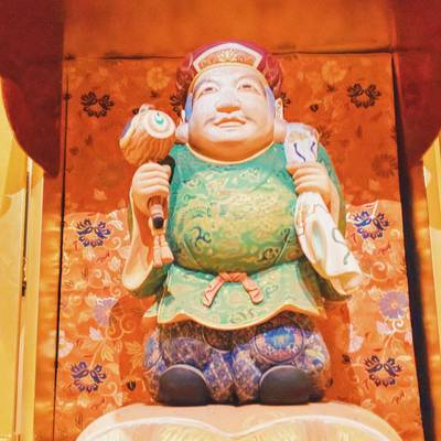 眞久寺の像