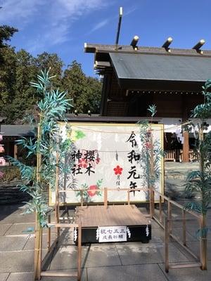 櫻木神社の七五三参