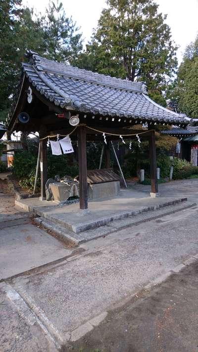 北野天神社の手水