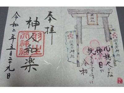 羽生天神社の御朱印