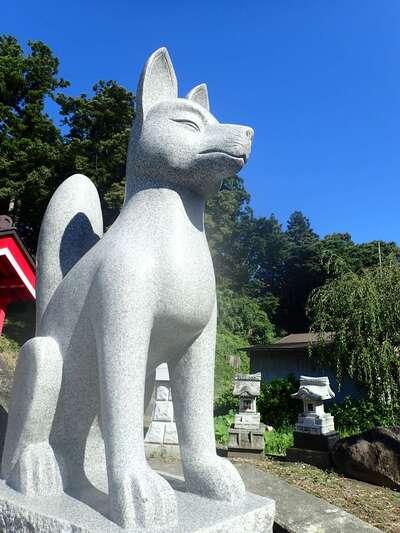 白狐山光星寺の狛犬